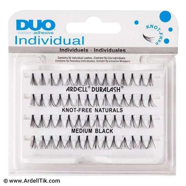 مژه تکی Dou بدون گره - مو طبیعی - سایز Medium